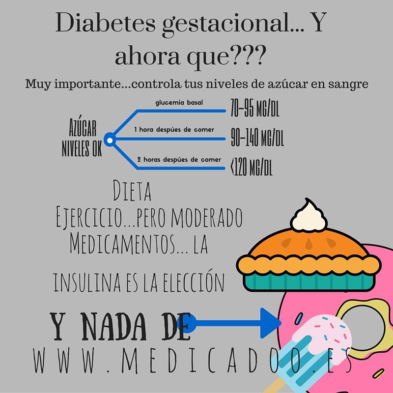 diabetes gestacional y niveles de azúcar en la sangre