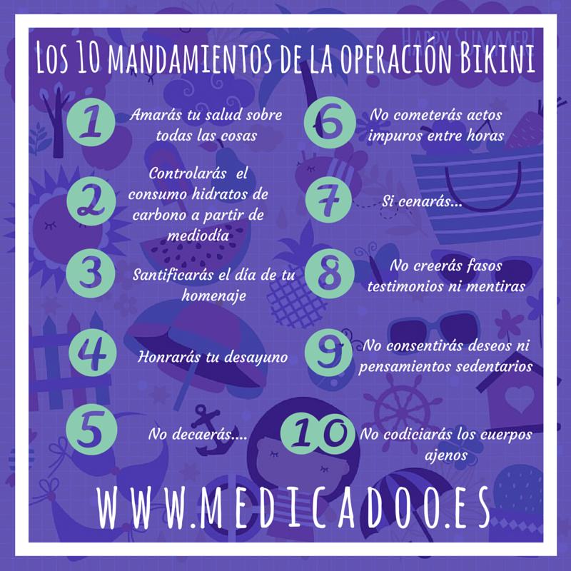 Los Operación Diez La Mandamientos De Medicadoo Bikini DHYEW2I9